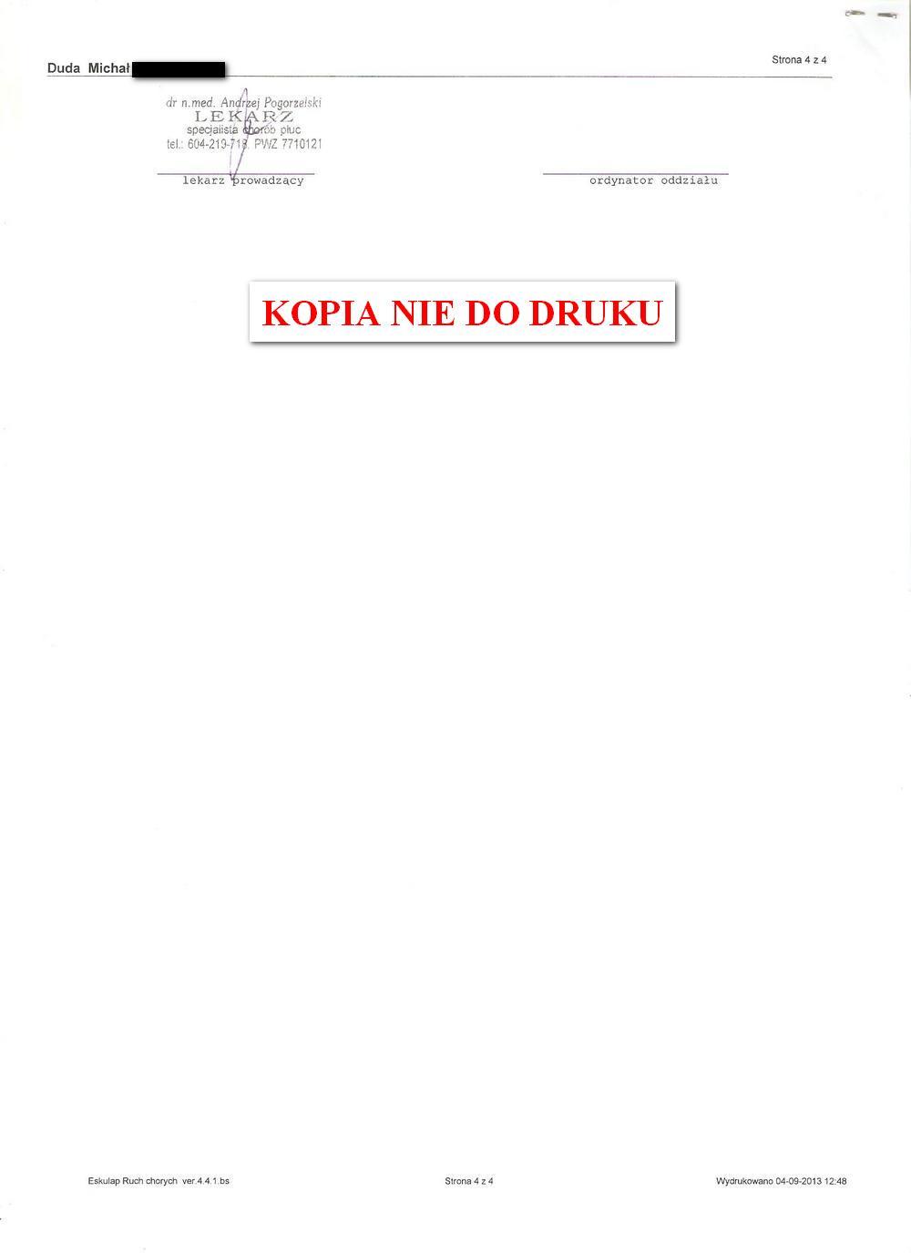 karta informacyjna leczenia szpitalnego IGiCHP 3