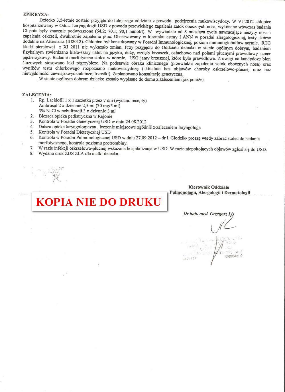 karta leczena klinicznego USD w Krakowie 2,1